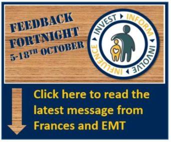 End of week message from Frances & EMT – 2nd October